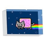 Nyan Cat 4 x 6  Acrylic Photo Blocks Front