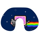Nyan Cat Travel Neck Pillows Back