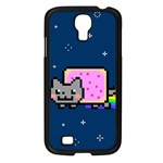 Nyan Cat Samsung Galaxy S4 I9500/ I9505 Case (Black) Front