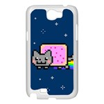 Nyan Cat Samsung Galaxy Note 2 Case (White) Front