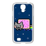 Nyan Cat Samsung GALAXY S4 I9500/ I9505 Case (White) Front