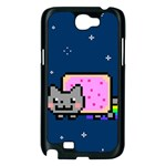 Nyan Cat Samsung Galaxy Note 2 Case (Black) Front