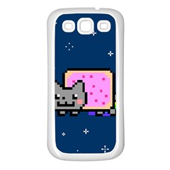 Nyan Cat Samsung Galaxy S3 Back Case (White)