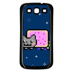 Nyan Cat Samsung Galaxy S3 Back Case (Black) Front