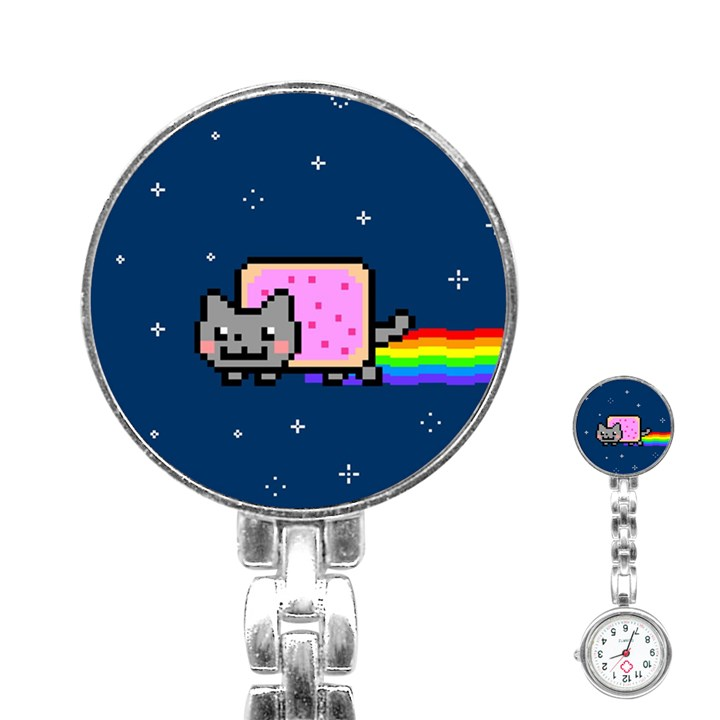 Nyan Cat Stainless Steel Nurses Watch
