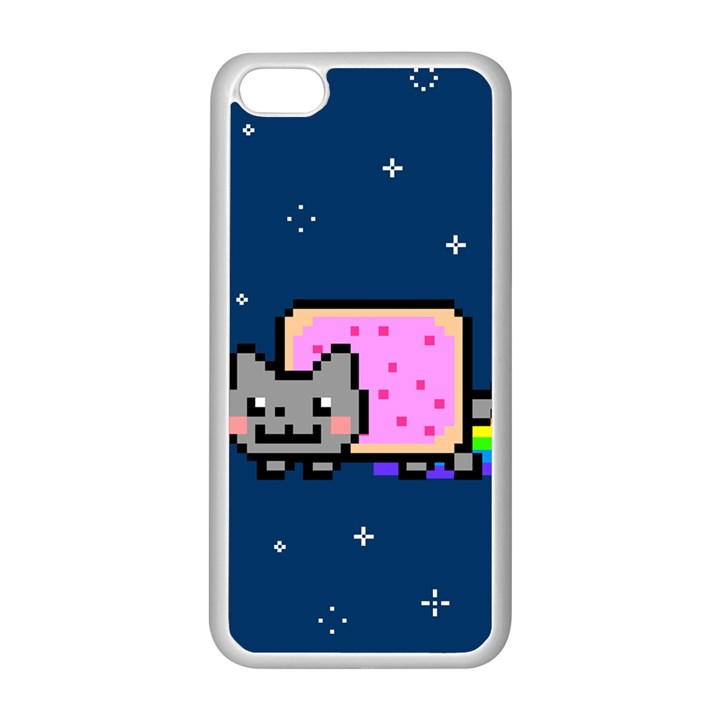 Nyan Cat Apple iPhone 5C Seamless Case (White)