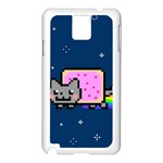 Nyan Cat Samsung Galaxy Note 3 N9005 Case (White) Front