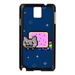 Nyan Cat Samsung Galaxy Note 3 N9005 Case (Black) Front