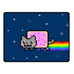 Nyan Cat Double Sided Fleece Blanket (Small)  50 x40 Blanket Front