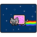 Nyan Cat Double Sided Fleece Blanket (Medium)  58.8 x47.4 Blanket Front