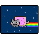 Nyan Cat Double Sided Fleece Blanket (Large)  80 x60 Blanket Front
