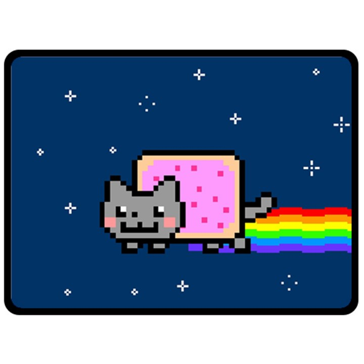 Nyan Cat Double Sided Fleece Blanket (Large)