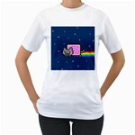 Nyan Cat Women s T-Shirt (White)  Front