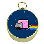 Nyan Cat Gold Compasses Front