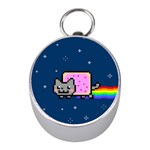 Nyan Cat Mini Silver Compasses Front