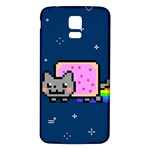 Nyan Cat Samsung Galaxy S5 Back Case (White) Front