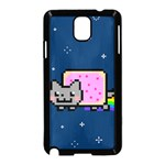 Nyan Cat Samsung Galaxy Note 3 Neo Hardshell Case (Black) Front