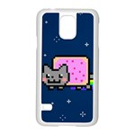 Nyan Cat Samsung Galaxy S5 Case (White) Front