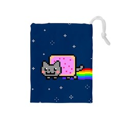 Nyan Cat Drawstring Pouches (Medium)