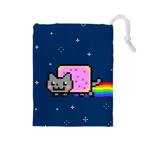 Nyan Cat Drawstring Pouches (Large)