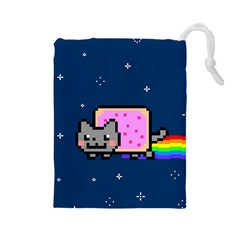 Nyan Cat Drawstring Pouches (Large)