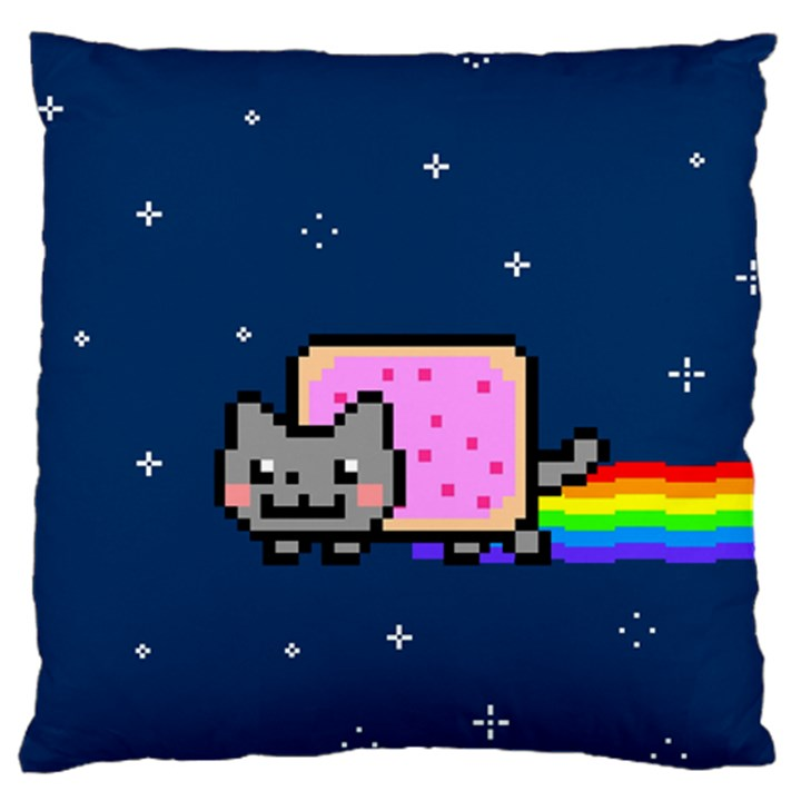 Nyan Cat Large Flano Cushion Case (Two Sides)