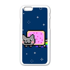 Nyan Cat Apple iPhone 6/6S White Enamel Case