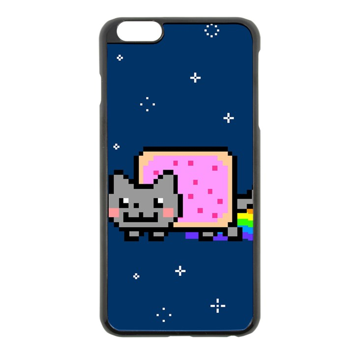 Nyan Cat Apple iPhone 6 Plus/6S Plus Black Enamel Case