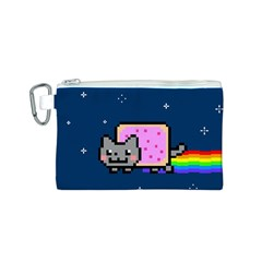Nyan Cat Canvas Cosmetic Bag (S)