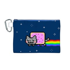 Nyan Cat Canvas Cosmetic Bag (M)