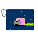 Nyan Cat Canvas Cosmetic Bag (L) Front