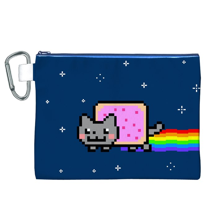 Nyan Cat Canvas Cosmetic Bag (XL)