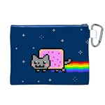 Nyan Cat Canvas Cosmetic Bag (XL) Back