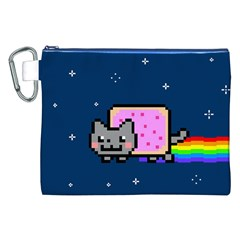 Nyan Cat Canvas Cosmetic Bag (XXL)