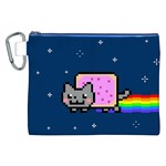 Nyan Cat Canvas Cosmetic Bag (XXL) Front
