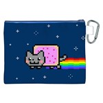 Nyan Cat Canvas Cosmetic Bag (XXL) Back
