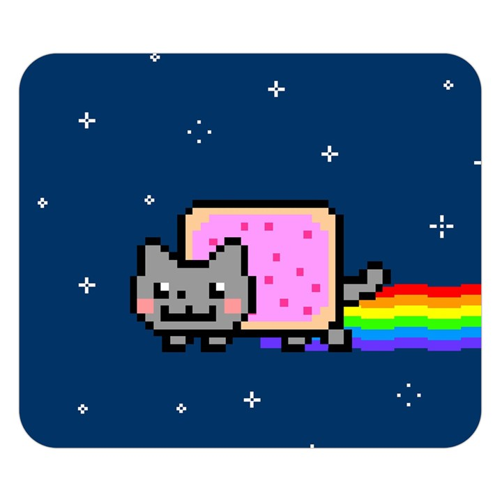 Nyan Cat Double Sided Flano Blanket (Small)