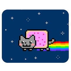 Nyan Cat Double Sided Flano Blanket (Medium)