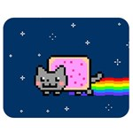 Nyan Cat Double Sided Flano Blanket (Medium)  60 x50 Blanket Front