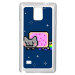 Nyan Cat Samsung Galaxy Note 4 Case (White) Front