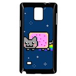Nyan Cat Samsung Galaxy Note 4 Case (Black) Front