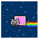 Nyan Cat Large Satin Scarf (Square) Front