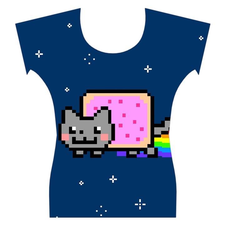 Nyan Cat Women s Cap Sleeve Top