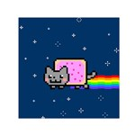 Nyan Cat Small Satin Scarf (Square) Front