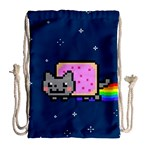 Nyan Cat Drawstring Bag (Large) Back