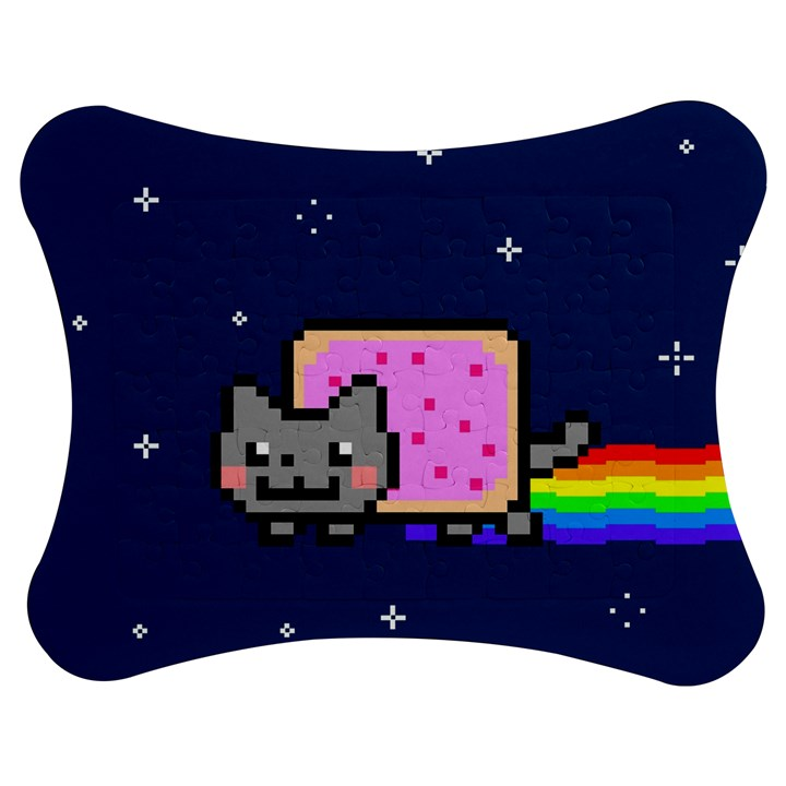 Nyan Cat Jigsaw Puzzle Photo Stand (Bow)