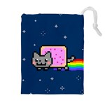 Nyan Cat Drawstring Pouches (Extra Large) Front