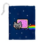 Nyan Cat Drawstring Pouches (Extra Large) Back