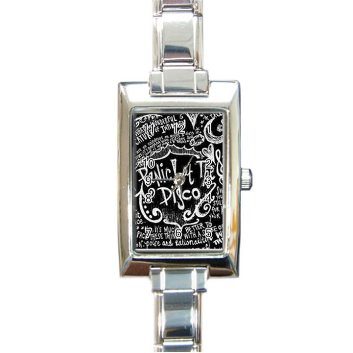 Panic ! At The Disco Lyric Quotes Rectangle Italian Charm Watch