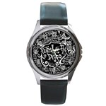 Panic ! At The Disco Lyric Quotes Round Metal Watch Front